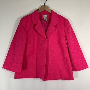 Chico's Hot Pink Blazer / Size 12